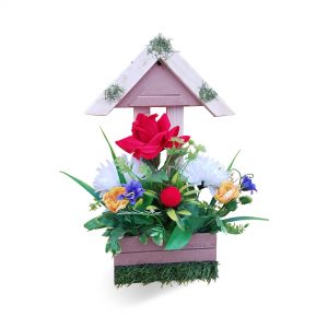 Custom Home Garden Wall Decoration wood Hanging Basket Wall Hanging Artificial