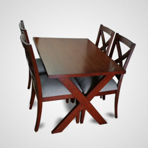 4 Person Modern Small Dining Table Dining Room Kitchen Table Set Dining 4 Chairs Set 52 Inches